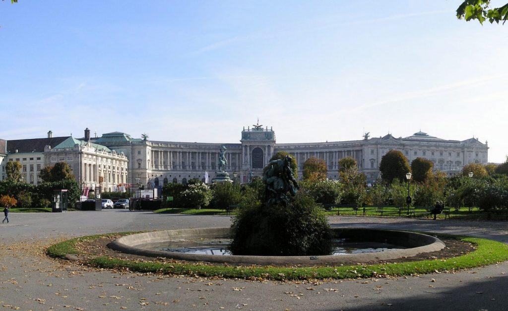 Hofburg and Heldenplatz in Vienna